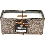 1 X RibbonWick: Damask Woods Collection - Rectangle Scented Candle
