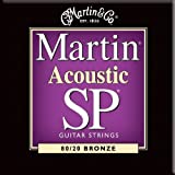 Martin MSP3050 11-52 acoustic custom light 80/20 bronze guitar strings (2 packs)