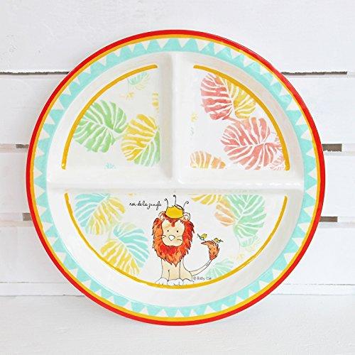 Baby Cie Dani Roi De La Jungle Round Textured Section Plate front-983750