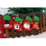 Generic 2 : Top Sale 2017 Hot Sale Christmas Stocking Sequins Socks Shining Xmas Tree Oranment Gift Bag Elk