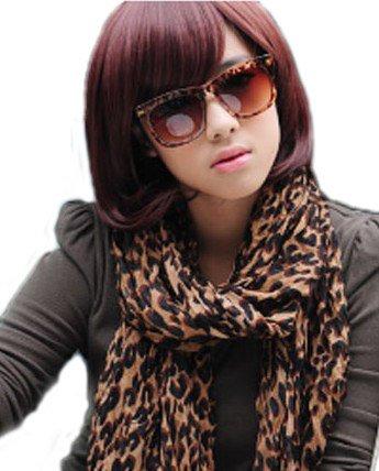 Bob Style Short Straight Kanekalon Hair Wig (Model: Jf010285) (Wine Red)