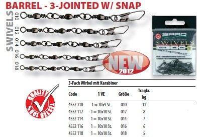 3-Jointed-Barrel-Swivel-Gr-14-Tragkraft-7kg-3-fach-Tnnchenwirbel-Sicherheitskarabiner-von-Spro