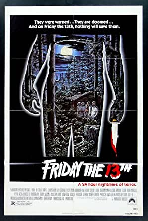 FRIDAY THE 13TH * 1SH ORIG MOVIE POSTER 1980 HORROR at ...