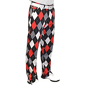 Royal & Awesome 38/32 Men's Loud Diamonds in the Rough Pants Golf
