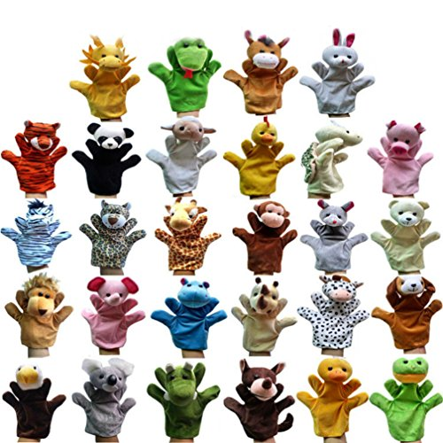 PerPor-28pcs-Animal-Plush-Toy-Hand-Puppet-Kids-Toy-for-Early-Childhood-Education