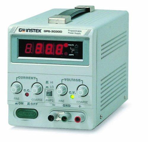 "Instek Gps-3030D 90W Single-Output Linear Dc Power Supply With 0.5"" Digital Led Screen, 30V Dc, 3 Amp"