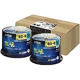 【Amazon.co.jp限定】TDK 録画用ブルーレイディスク 超硬シリーズ BD-R DL(長時間2層ディスク) 50GB 1-4倍速 ホワイトワイドプリンタブル 100枚入り(50枚スピンドルX2) ATBRV-50HCPWB100PZ