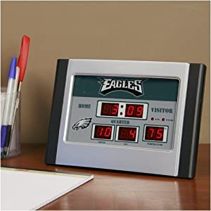 Buy Team Sports America NFL Scoreboard Desk Clock by Team Sports America