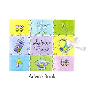 bottle and booties keepsake registry advice book baby shower baby