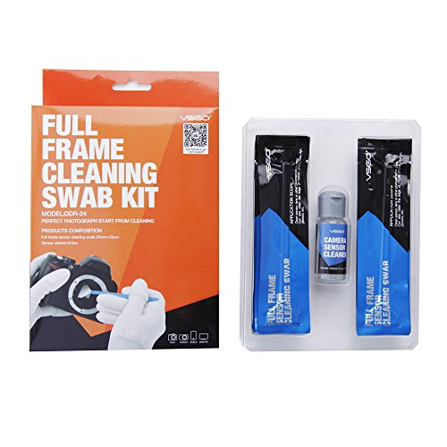 VSGO Professionale Pulizia Kit Fotocamera Camera Sensor Cleaner+12x Full Frame Sensor Cleaning Swab Per Fotocamera DSLR Cameras Canon Nikon Pentax Sony DC516