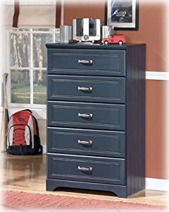 Leo Youth Bedroom Blue Chest from Famous Brand Furniture
