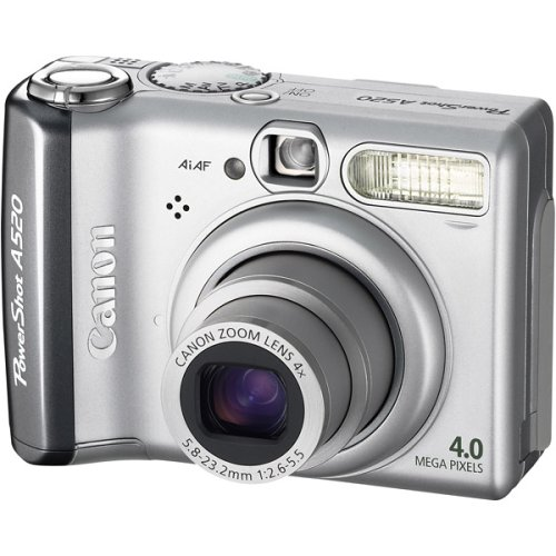 Canon Powershot A520 4MP Digital Camera with 4x Optical Zoom (OLD MODEL) (Canon Cover compare prices)