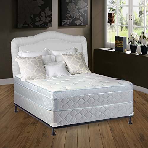 continental sleep mattress 10 plush pillowtop eurotop fully assembled othopedic full. Black Bedroom Furniture Sets. Home Design Ideas