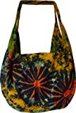 Combi backpack / shoulder bag cotton with batik pattern; 16 x 13 inch (l x w)
