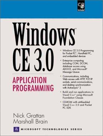 Windows CE 3.0 Application Programming (Prentice Hall Series on Microsoft Technologies)