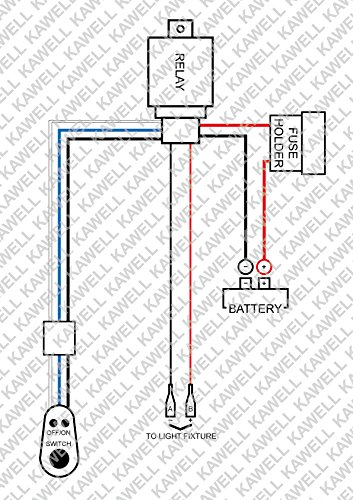 kawell u00ae 1 leg wiring harness include switch kit for 300w led light wiring harness and switch