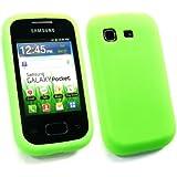 Emartbuy ® Samsung S5300 Galaxy Pocket Silicon Skin Cover / Case Grün