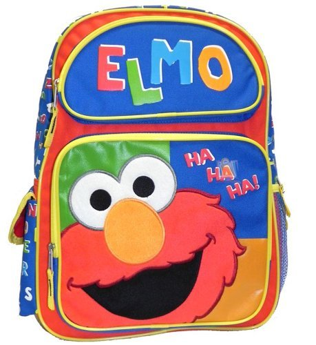 "Zaino, motivo: Sesame Street, Elmo Ha Ha Ha ""New 054568 grande per la scuola"