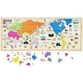木製 NEW パズル世界地図 学研