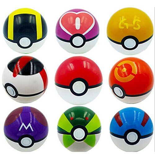 9 Pieces Plastic Super Anime Figures Balls for