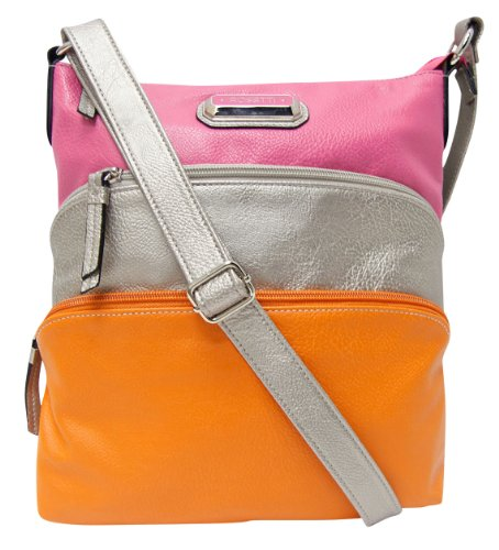Rosetti Cross Roads Becky Crossbody Handbag CHAMP/WATERMELON PINK