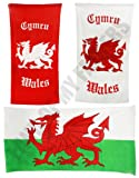 WALES WELSH CYMRU SWIMMING BEACH TOWEL FLAG PRINT SUNBATHING DRAGON TOWELS