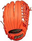 asics(アシックス) 野球 軟式用グローブ(外野手用) ダイブ BGRFBU Rオレンジ LH
