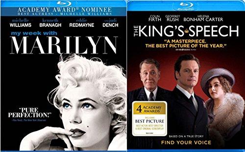 The King's Speech & My Week With Marilyn Monroe Blu Ray Drama Movie Set