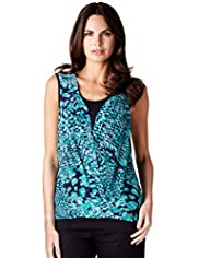 Per Una Kaleidoscope Wrap Top