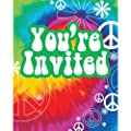 Creative Converting Tie Dye Fun 8 Count Party Invitations