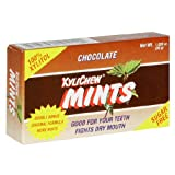 XyliChew Sugar Free Mints, Chocolate, 50-Count Boxes (Pack of 12) ~ Xylichew