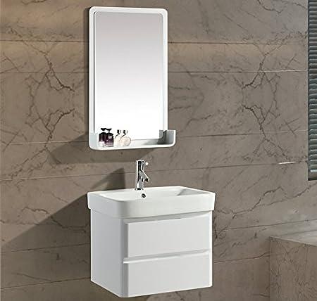 Mobile Arredo Bagno White 60 cm Bianco Moderno Sospeso