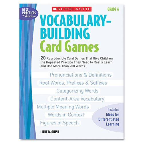 Scholastic - Vocabulary Building Card Games, Grade Six, 80 Pages 0439578175 (Dmi Ea