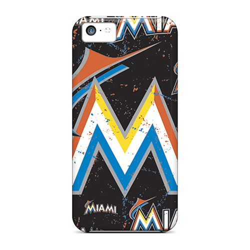 Premium Miami Marlins Heavy-Duty Protection Case For Iphone 5C