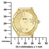 Badgley Mischka Women's BA1086CHCR Swarovski Crystal Accented Gold-Tone Star Theme Strap Watch