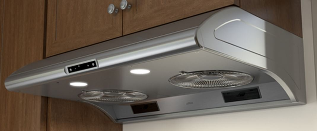 "Zephyr AK2100BS 30"" Power: Typhoon Series Under Cabinet Hood with 850 CFM, 5 Sones, ACT Technology, 6 Speed Levels and 2 Halogen Lighting, in Stainless Steel"
