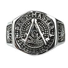 buy Mens Masonic Jewelry Ring G Past Master Freemason Vintage Plated