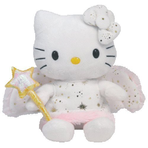 Ty Beanie Baby Hello Kitty Gold Angel Plush Toy