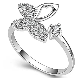 joias Austrian crystal unhas anillos wedding rings for women: Jewelry