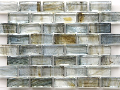 glass tile blue gray brown brick pattern best backsplash ideas
