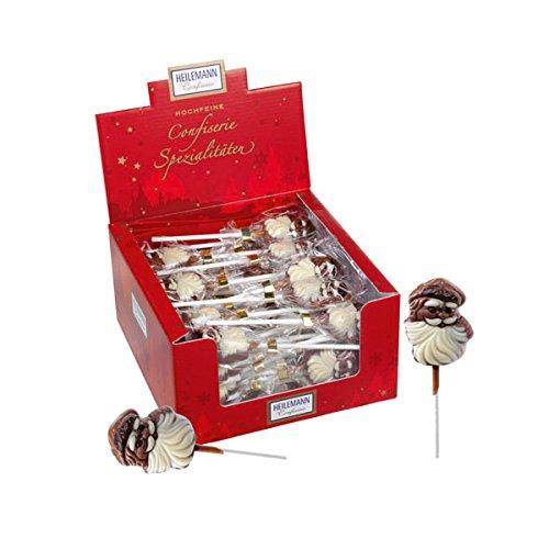10er SET Weihnachtsmann Lolly 15 g Schokoladen