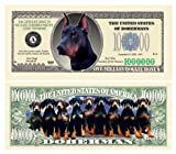 SET OF 5 BILLS-DOBERMAN PINSCHER MILLION DOLLAR BILL