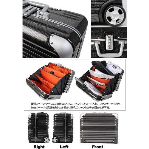 LEGEND WALKER スーツケース キャリーバッグ キャリーケース 2輪 TSAロック PC100% 軽量細フレーム 31L 6200-44 (ネイビーカーボン)