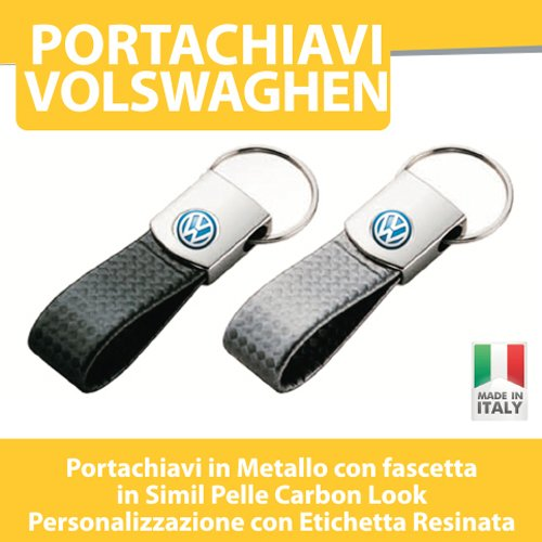 PORTACHIAVI AUTO MOTO TUNING - VOLKSWAGEN Golf Up Polo Passat - PORTACHIAVE CARBON LOOK printerlad.it (GRIGIO)
