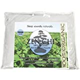 "Buckwheat Pillow - Zen Chi Organic Buckwheat Pillow - Japanese Size (14"" X 20"") - Great for Kids or Travel"