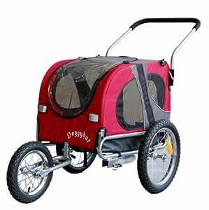DOGGYHUT Remorque pour chien moyen avec kit de joggeur ROUGE 10201-01
