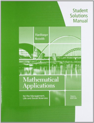 Student Solutions Manual for Harshbarger/Reynolds'