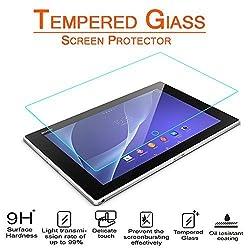 Xperia Z2 Tablet 10.1 Glass Screen Protector, AnoKe (0.3mm 9H Hardness) Tempered Glass Screen Protector Cover For Sony Xperia Z2 Tablet 10.1 inch, [Lifetime Warranty] Glass