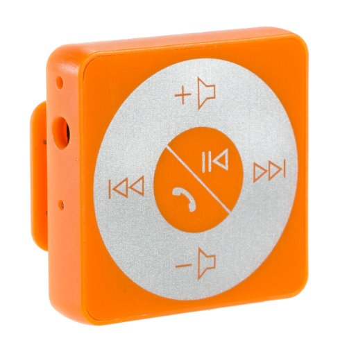 Abco Tech Bluetooth Hands-Free Calling & A2Dp Audio Streaming Adapter/Receiver For 3.5Mm Devices, Orange