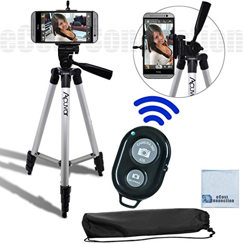 50-Inch-Aluminum-Camera-Tripod-Universal-Tripod-Smartphone-Mount-Bluetooth-Wireless-Remote-Control-Camera-Shutter-For-Sony-Xperia-Z3-Sony-Xperia-Z3-Compact-Sony-Xperia-Z2-Sony-Xperia-Z2-Compact-Sony-X
